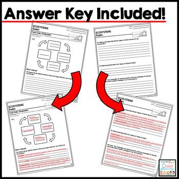 Ecosystems Exam - Assessment