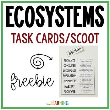 Ecosystems Flashcards {Freebie}