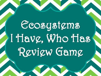 Ecosystems & Food Chain I Have, Who Has Review Game