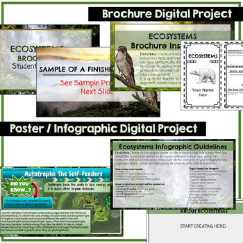 Ecosystems Google Classroom Student Projects