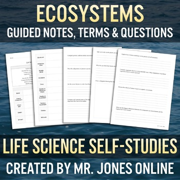 Ecosystems: Guided Notes / Self Study
