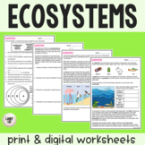 Ecosystems - Guided Practice - PDF & Digital Versions