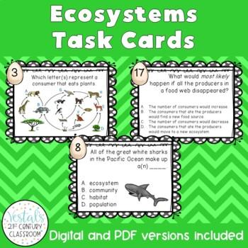 Ecosystems & Habitats Task Cards