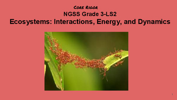 Ecosystems: Interactions, Energy, Dynamics/ NGSS Grade 3-LS219
