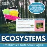 Ecosystems Interactive Notebook Pages - Print and Digital