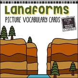 Landforms Picture Vocabulary Cards