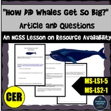 Ecosystems Article NGSS Resource Availability on Growth MS-LS1-5 and MS-LS2-1