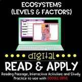 Ecosystems (Levels and Limiting Factors)DIGITAL Read & App