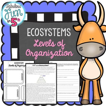 Ecosystems: Levels of Organization: Nonfiction Passage and