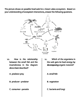 Ecosystems MODIFIED Quiz, Test, or WS
