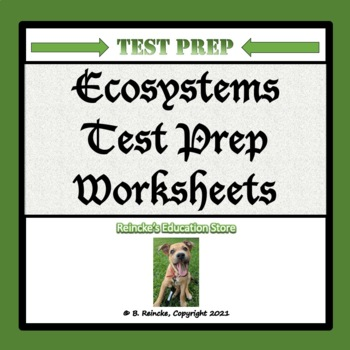 Ecosystems Multiple Choice Worksheets (Test Prep)