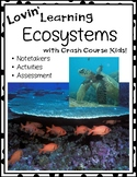 Ecosystems Notetakers and Actvities Crash Course Kids Video Supplement