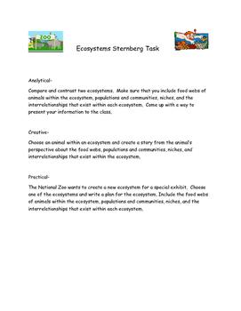 Ecosystems Performance Task