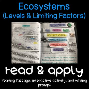 Ecosystems: Populations Reading Comprehension Interactive Notebook