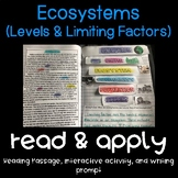 Ecosystems: Populations and Limiting Factors Read and Apply {NGSS MS-LS2-1 & 2}