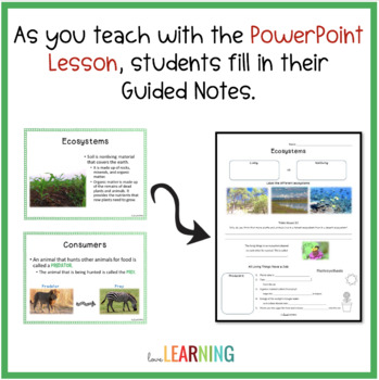 Ecosystems PowerPoint and Student Notes