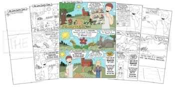 Ecosystem Interactions Bundle: Producers, Consumers, and Decomposers Comics