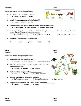 Ecosystems Quizzes