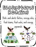 Ecosystems Reading