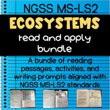 Ecosystems Interactive Notebook Read and Apply Bundle
