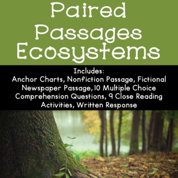 Ecosystems Reading Comprehension Paired Passages