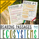 Ecosystems Reading Passages - Questions - Annotations