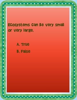 Ecosystems Review