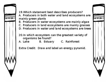 Ecosystems Review/Quiz NC 5.L.2