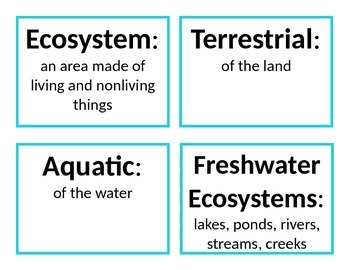 Ecosystems Review Resource