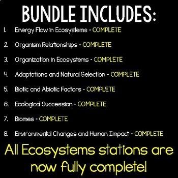 Ecosystems S.C.I.E.N.C.E. Stations Bundle