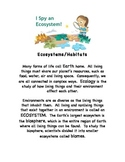 Ecosystems- STEM Earth Science Internet  Worksheets w/ Answer Key