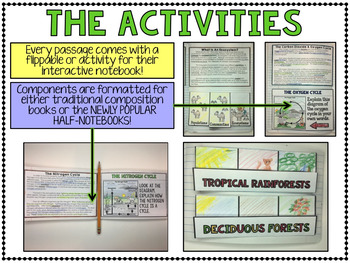 Ecosystems - Science Interactive Notebook with Close Reading Passages