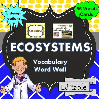 Ecosystems Word Wall Science Vocabulary
