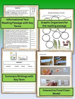 Ecosystems Science and Literacy Lesson Set (STAAR & NGSS)
