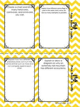 Ecosystems, Test Prep Mini Booklet & Sheets