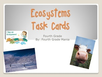 Ecosystems Task Cards-4th Grade (or other)