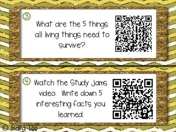 Ecosystems Task Cards with QR Codes - Set of 30