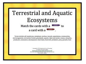 Ecosystems:  Terrestrial and Aquatic