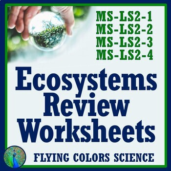 Ecosystems Ecology Review Worksheet Middle School Ngss Aligned