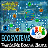 Ecosystems Themed Board Game - Pre-Written & Editable Cards