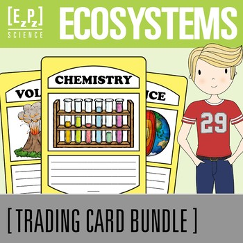 Ecosystems Trading Cards Science Bundle