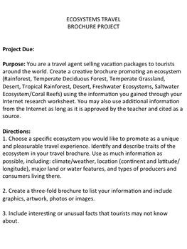 Ecosystems Travel Brochure