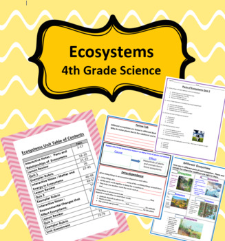 Ecosystems Unit - 4th Grade Science