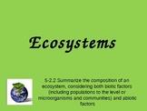 Ecosystems Unit - Grade 5