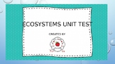 Ecosystems Unit Test Review- Alternative Assessment- SOL 4.5