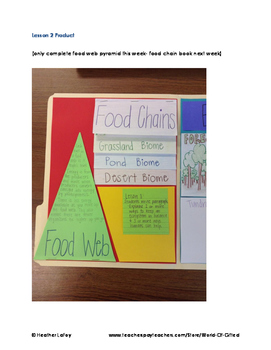 Ecosystems Unit: Vocabulary, Research, Biome Project, Food Webs, Food Chains