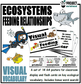 Ecosystems Visual Vocabulary Cards and Word Wall Posters