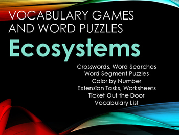 Ecosystems Vocabulary Activities