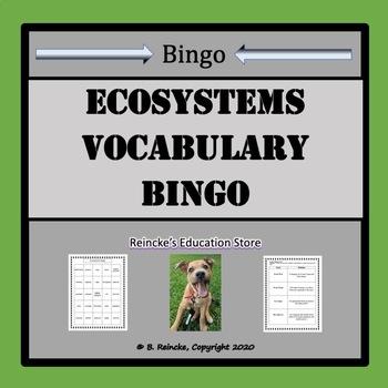 Ecosystems Vocabulary Bingo (30 pre-made cards!)