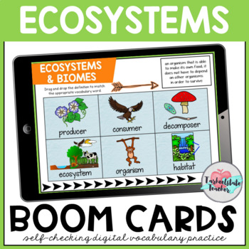 Ecosystems Vocabulary Boom Cards